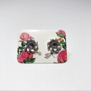3 For $12 - Mini Silver Flowers Stud Earrings